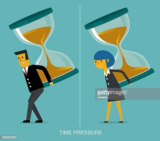 time pressure - bending stock illustrations