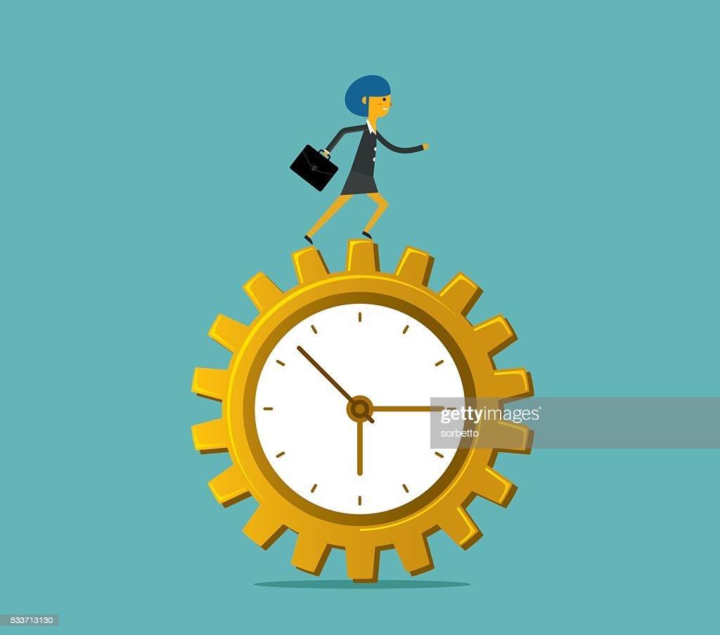 Tempo pressione : Illustrazione stock