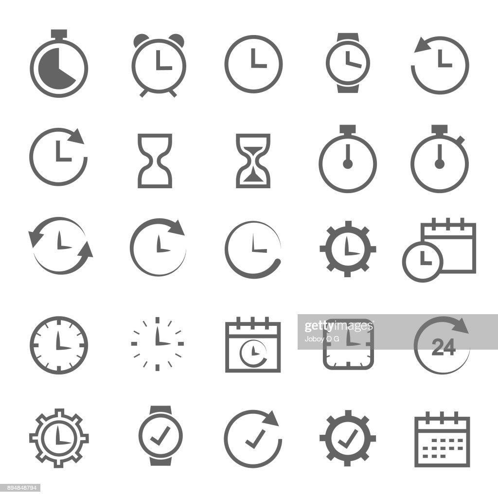 Time related icon : Ilustração de stock