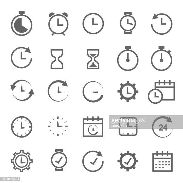 stockillustraties, clipart, cartoons en iconen met verwante tijdpictogram - klok