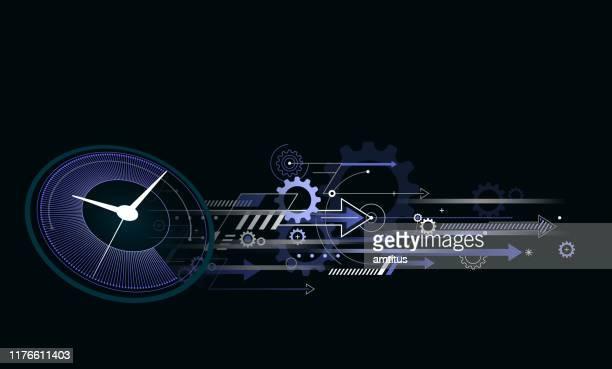illustrazioni stock, clip art, cartoni animati e icone di tendenza di velocità del tempo - tempo concetto