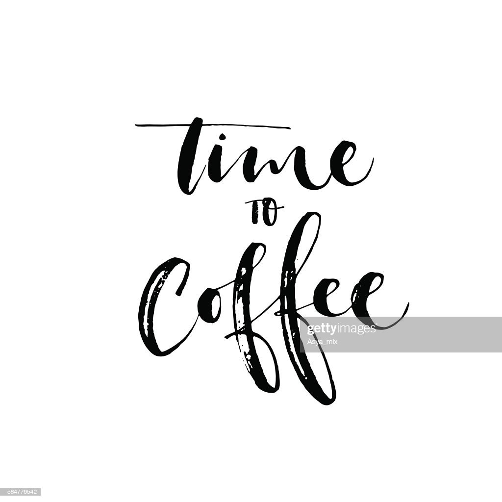 Time to coffee card.