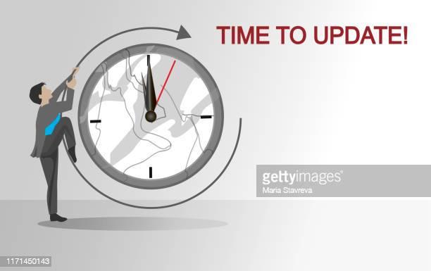 コンセプトを更新する時間。 - ソフトウェアアップデート点のイラスト素材/クリップアート素材/マンガ素材/アイコン素材