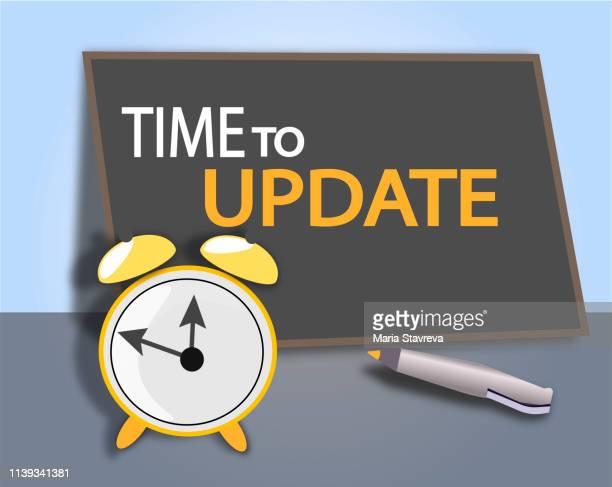 更新する時間。ベクトル - 最新情報点のイラスト素材/クリップアート素材/マンガ素材/アイコン素材