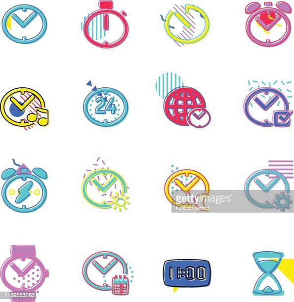 ilustrações de stock, clip art, desenhos animados e ícones de time - ver a hora