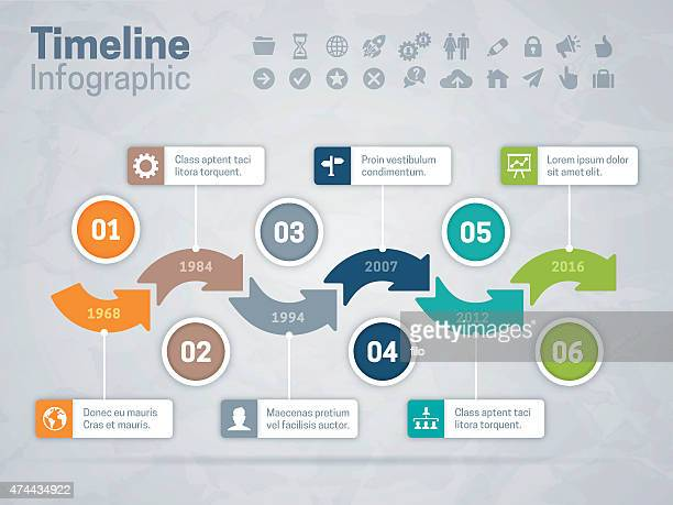 timeline arrows concept - number 1 stock illustrations, clip art, cartoons, & icons