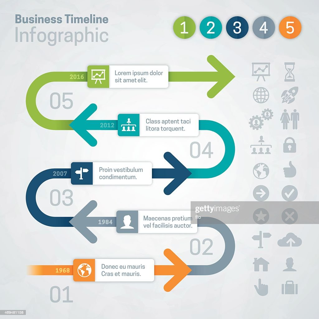 Timeline Arrows Infographic