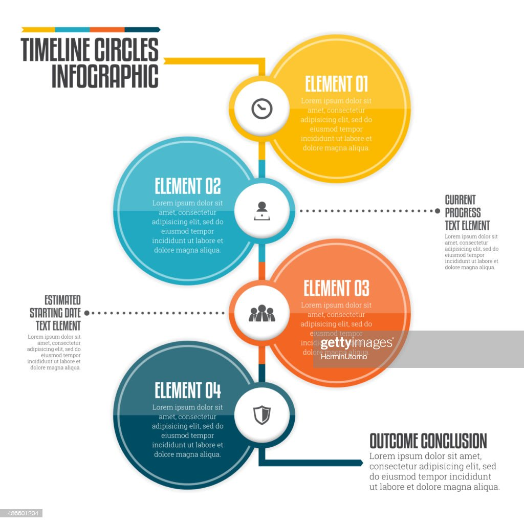 Timeline Circles Infographic