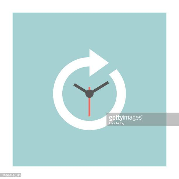timeline icon - history stock illustrations