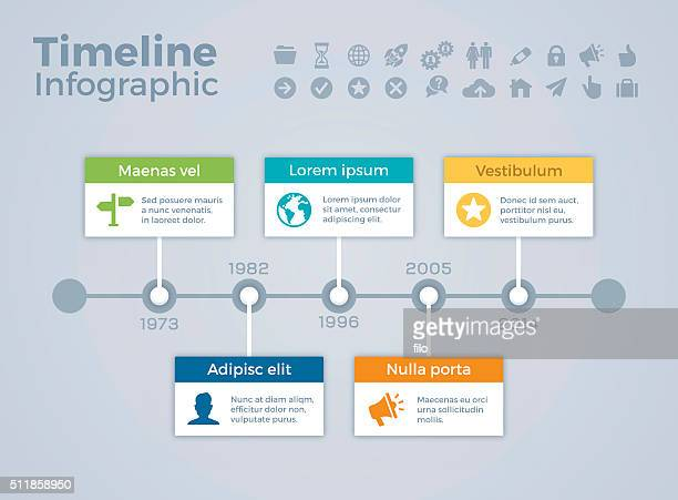 timeline infographic concept - calendar date stock illustrations