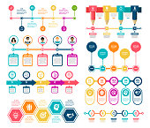 Timeline Infographic Elements