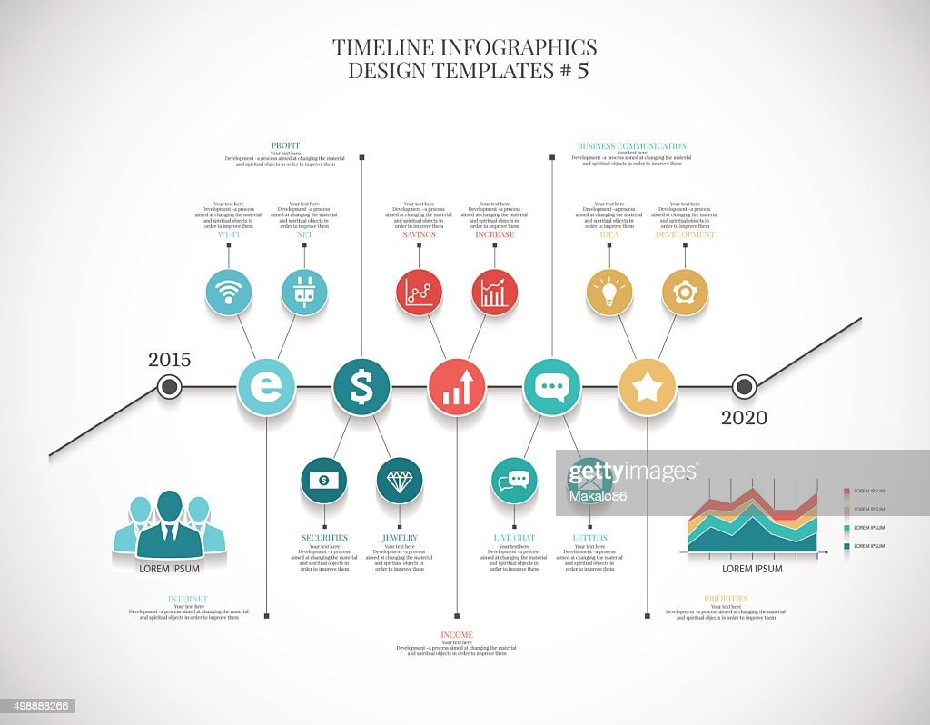 Timeline infographic illustration  ?6 , vector graphics for business