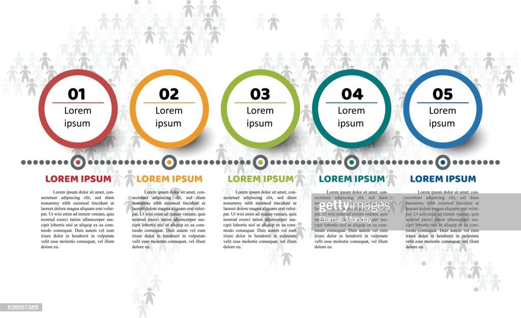 timeline infographic template 5 steps vector art getty images