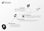 Timeline infographic template. Business concept eith icons