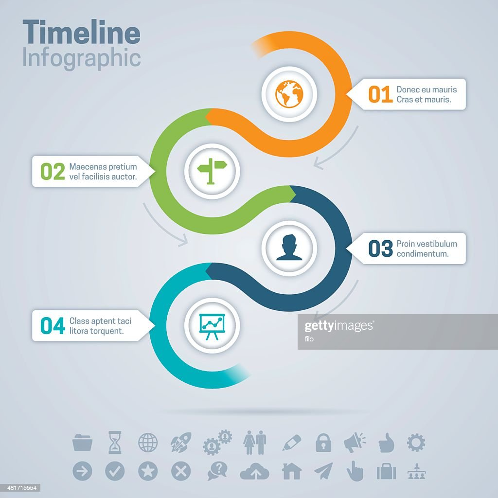 Timeline Infographic : stock illustration
