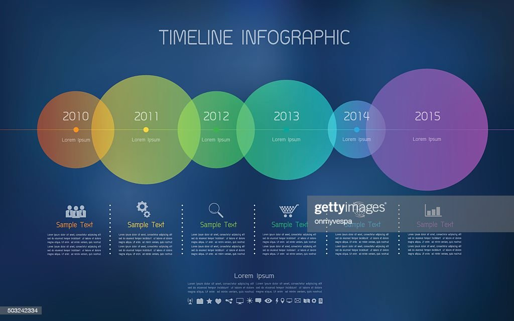 Timeline infographic with icons set for business concept