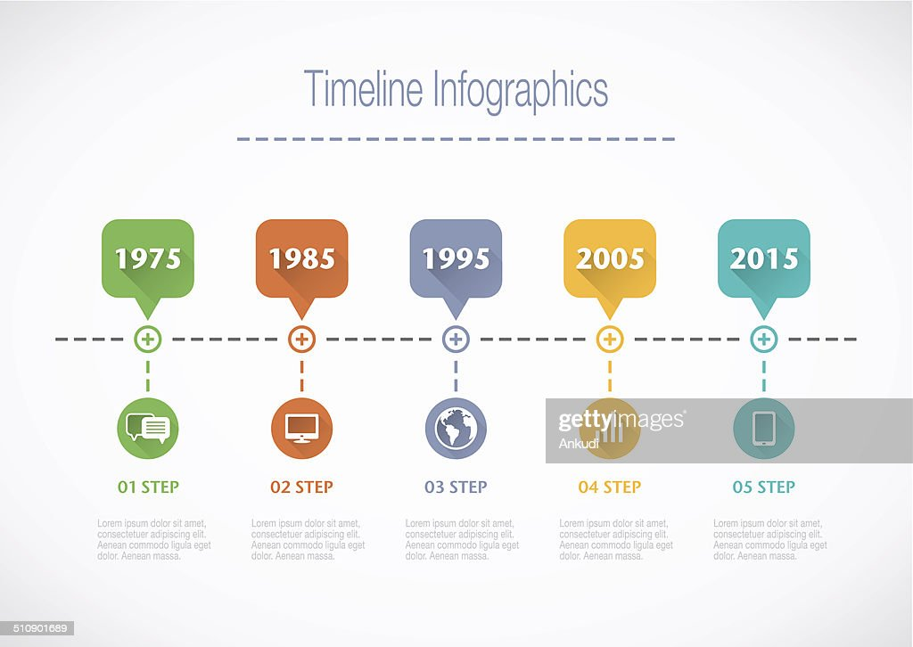 Timeline Infographic with pointers