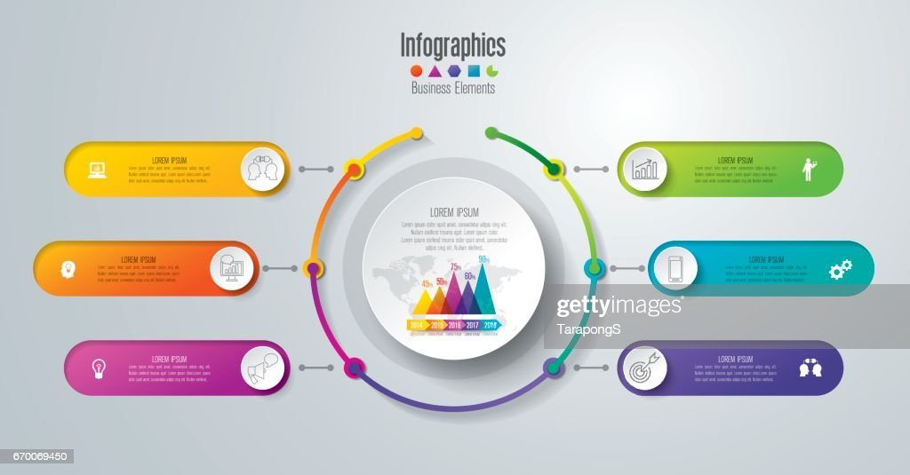 Timeline infographics design vector and business icons.