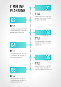 Timeline infographics template, workflow layout, diagram, number step up options in vector illustration.