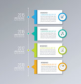 Timeline infographics vector template. Business concept for diagrams, graphs, web design.