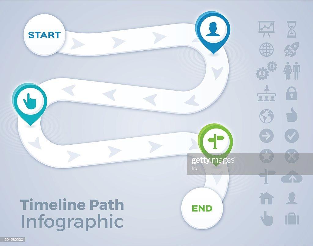 Timeline Path Infographic : stock illustration
