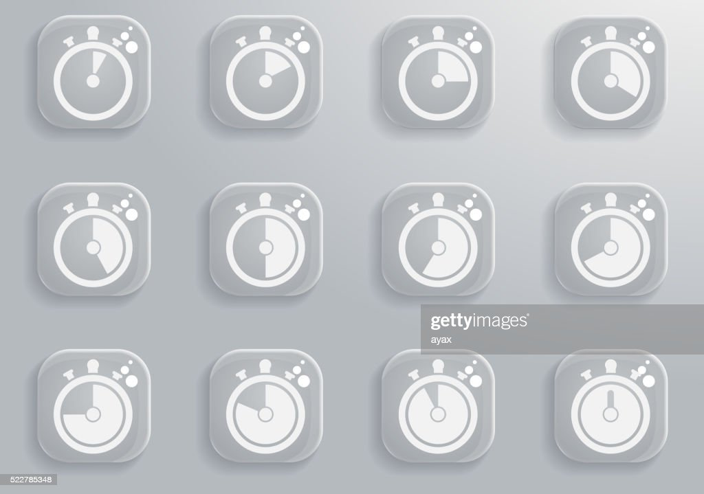 Timer Icon Set Stock Illustration - Getty Images