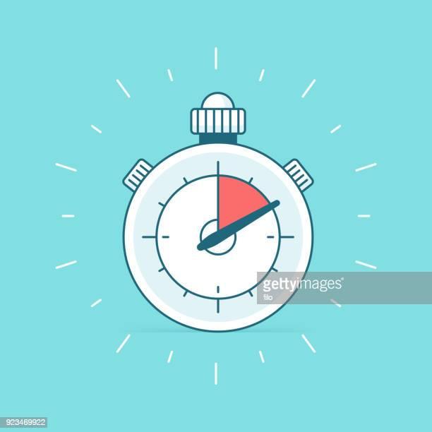ilustrações, clipart, desenhos animados e ícones de temporizador cronômetro - ponteiro grande