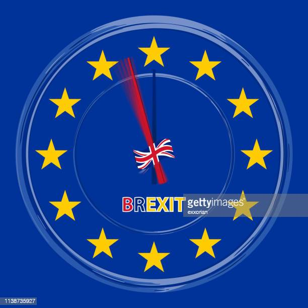 time's up brexit - brexit stock illustrations