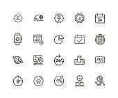 Timing icon set