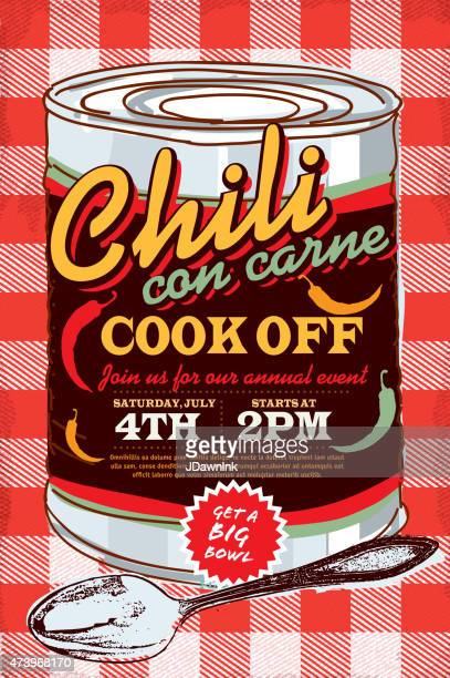 ilustrações de stock, clip art, desenhos animados e ícones de piquenique apimentado con carne cook de design de modelo de convite - pimenta