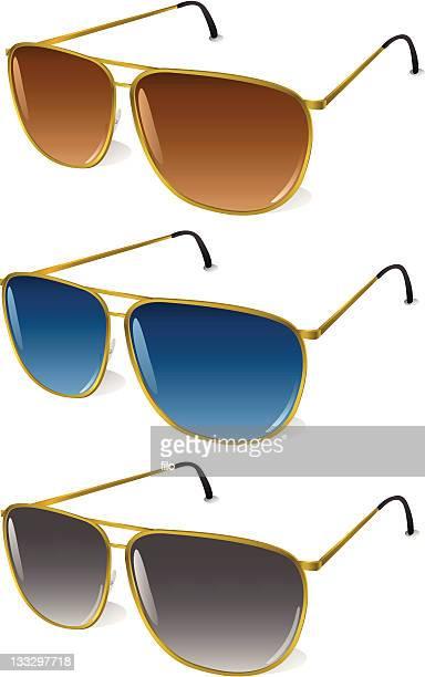 シャドウティントアビエイターサングラス[ベクトル] - パイロットサングラス点のイラスト素材/クリップアート素材/マンガ素材/アイコン素材