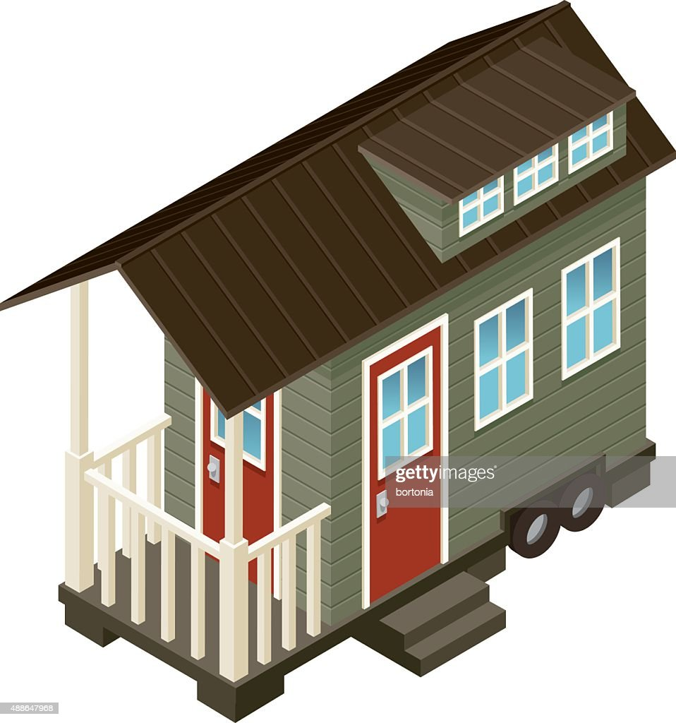 Tiny House Isometric Icon