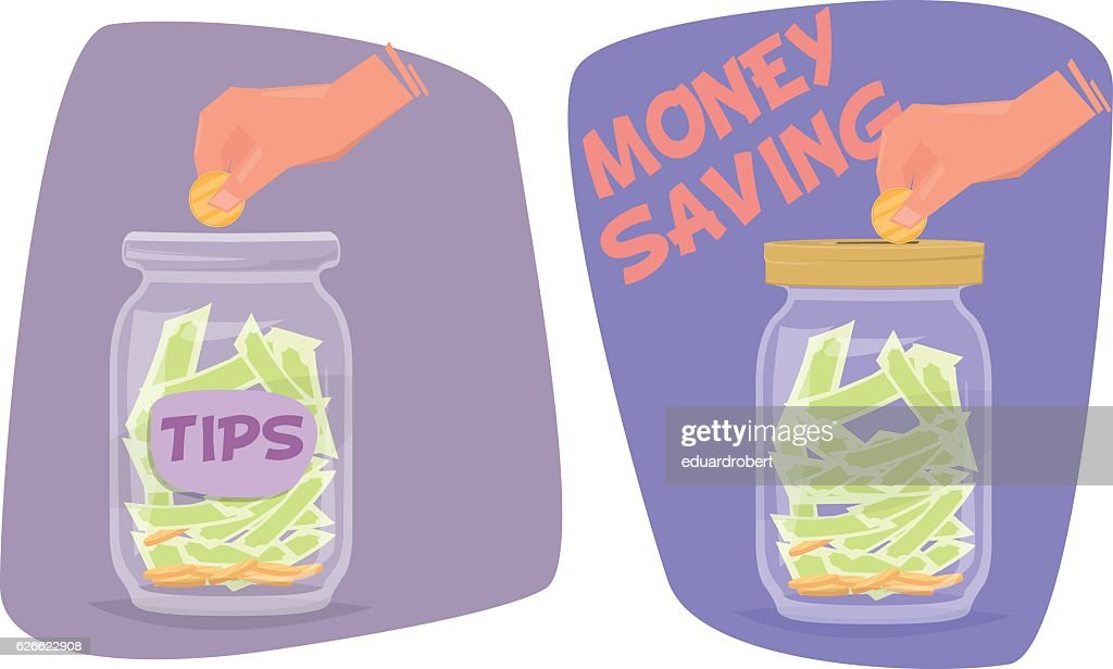 Tips and money saving jar