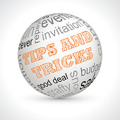 Tips and tricks theme sphere with keywords