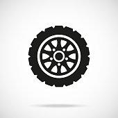 Tire icon. Car wheel. Vector icon