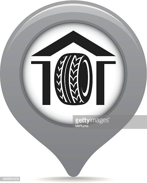 Tire shop map pointer