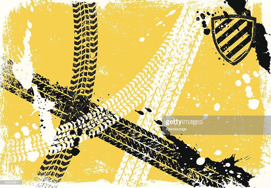 Reifen Track Hintergrund : Stock-Illustration