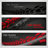 Tire track banners
