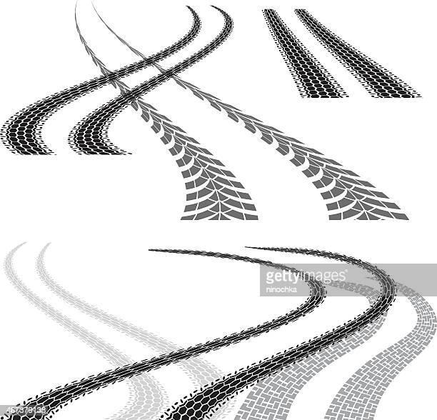 ilustrações, clipart, desenhos animados e ícones de tire curva de corrida - skidding