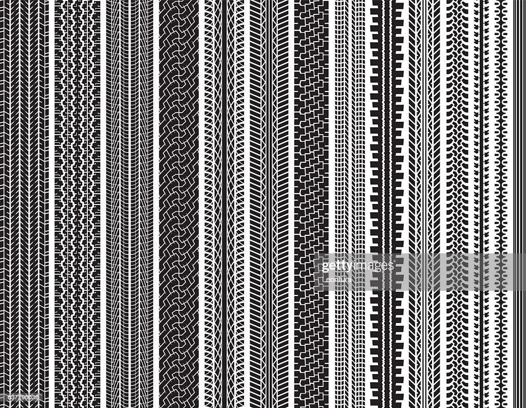 Tire Tracks (Seamless) : stock illustration