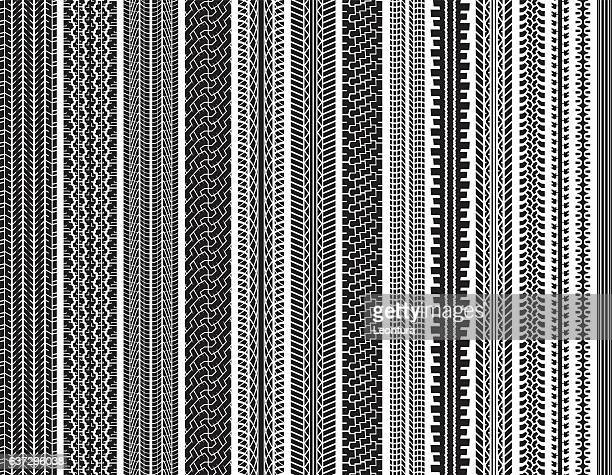 tire tracks (seamless) - bicycle stock illustrations