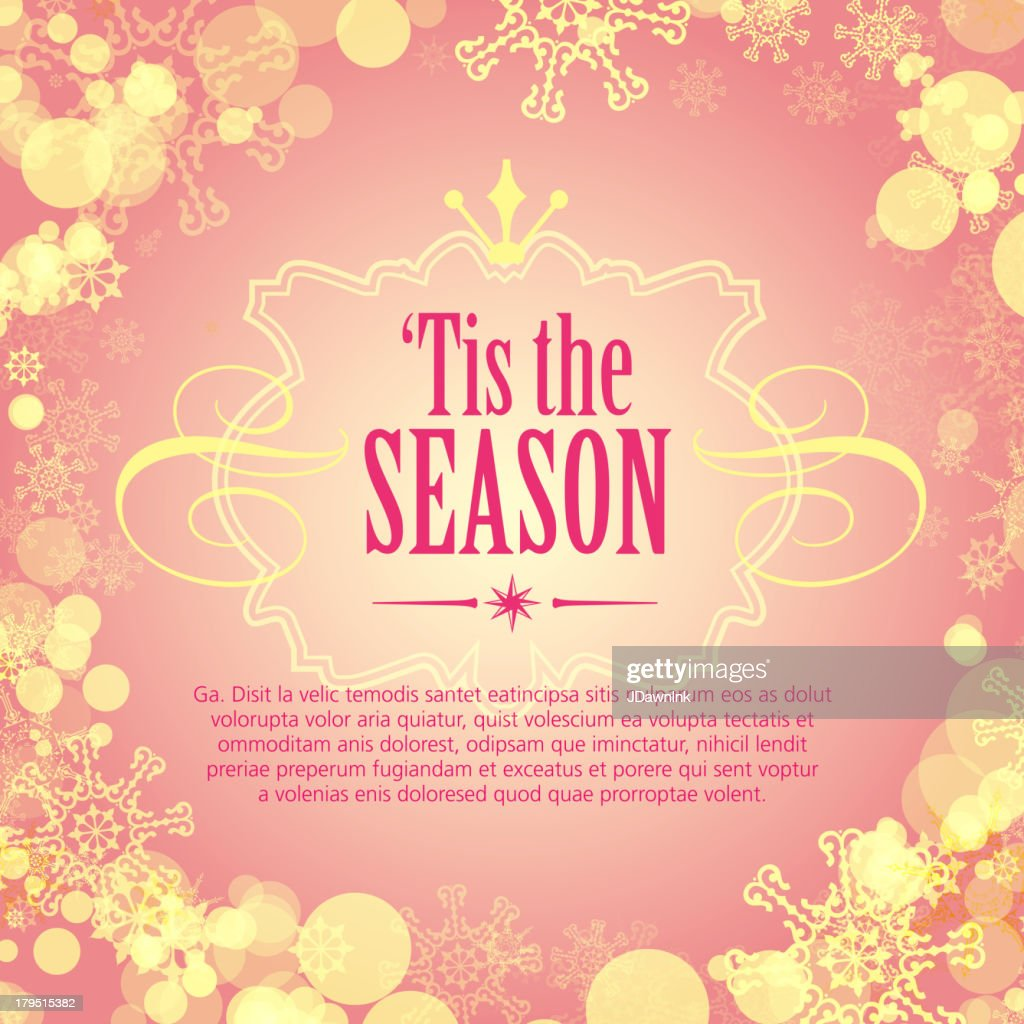 Tis The Season Greeting Design Template Vector Art Getty Images