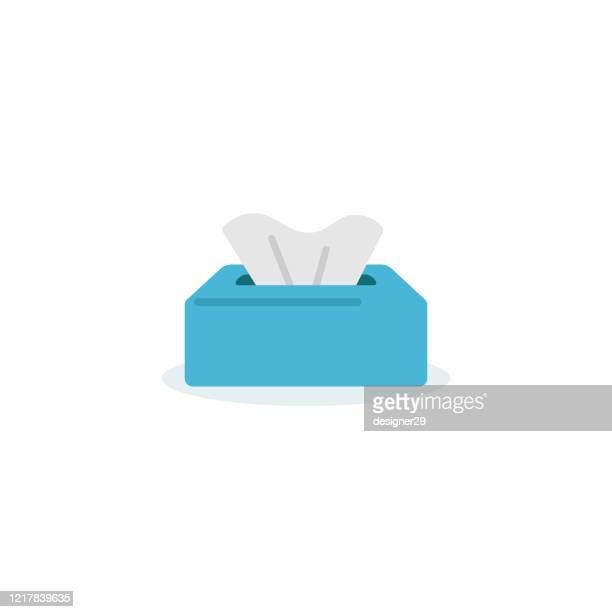 gewebe und papier servietten icon flaches design. - nass stock-grafiken, -clipart, -cartoons und -symbole