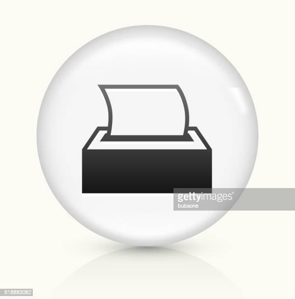 Tissue icon on white round vector button