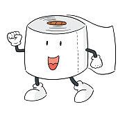 tissue paper cartoon