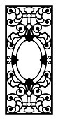 RMS Titanic First Class Dining Room Door Grill Illustration