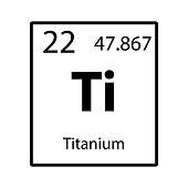 Titanium periodic table element icon on white background vector
