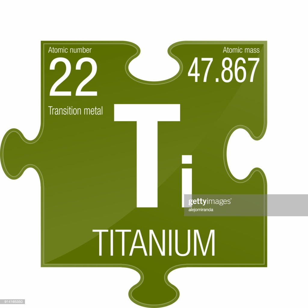 Titanium Symbol Element Number 22 Of The Periodic Table Of The