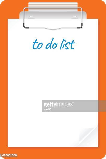 to do list document clipboard list icon - to do list stock illustrations, clip art, cartoons, & icons