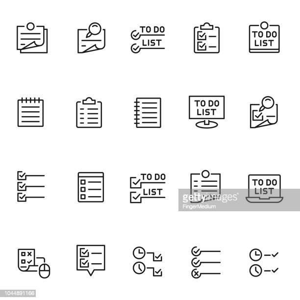 to do リストのアイコンを設定 - リスト点のイラスト素材/クリップアート素材/マンガ素材/アイコン素材